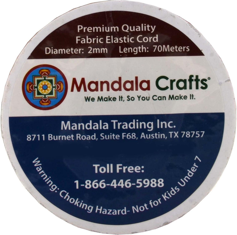 Gold, 2mm 76 Yards Beading Jewelry Making Mandala Crafts Elastic Cord Stretchy String for Bracelets Masks Necklaces