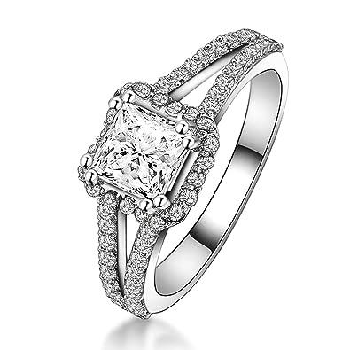 e920a818e8cd3 Amazon.com: Aooaz Ring for Wedding Silver Material Ring Hollow Lines ...