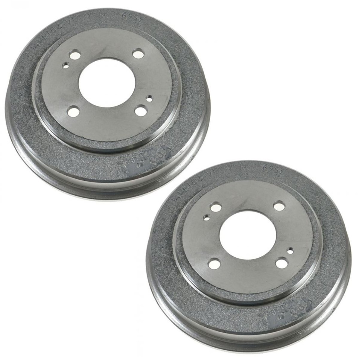Rear Brake Drum Left LH /& Right RH Pair Set of 2 for Honda Accord Civic FIT