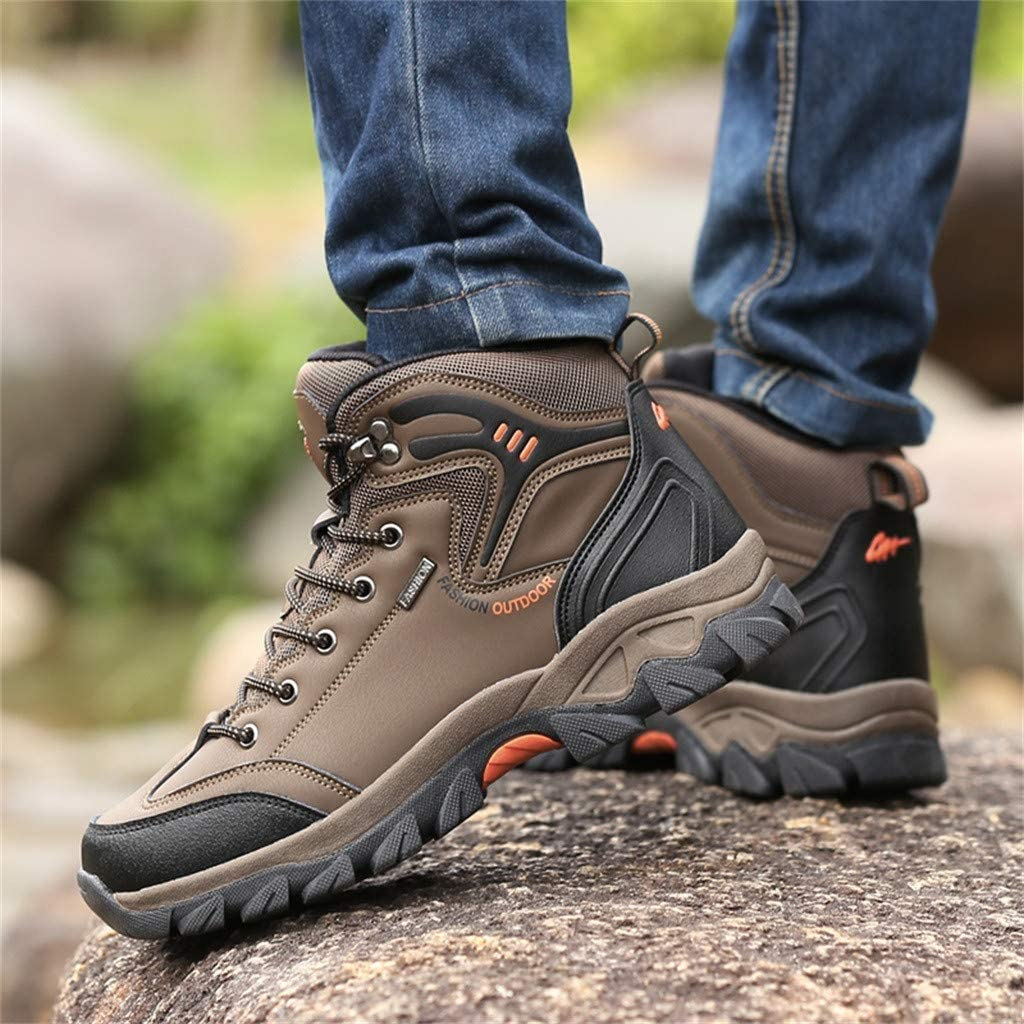 Men Running Sneakers KKGG Sports Lightweight Breathable Comfortable Fashion Casual Shoes Mesh Outdoor Wide Non Slip Lace-Up Flats Shoe Climbing Hiking Jogging Leisure Footwears Athletic Gym