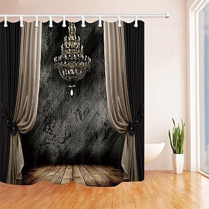 Amazon Ancient Gothic Decor Shower Curtains Medieval Castle