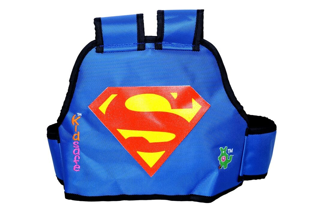 Kidsafe Two Wheeler Child Safety Seat Belt, Cool Blue Superman