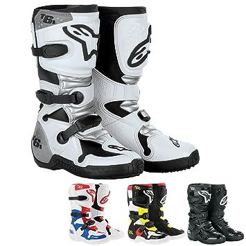 Silber Kinder Tech Motocross S Alpinestars Stiefel 6 Weiss W9H2YDIeEb