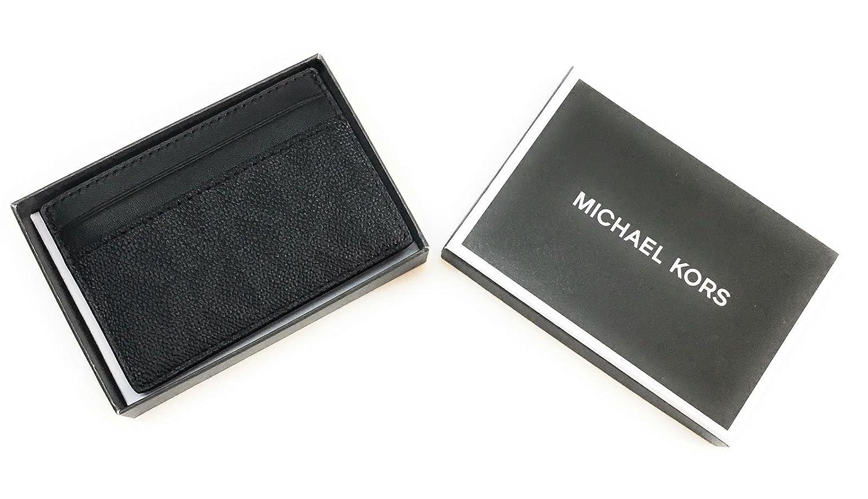 cbd4a2fc23ef MICHAEL KORS MEN MONEY CLIP CARD CASE (Black PVC) at Amazon Men s Clothing  store
