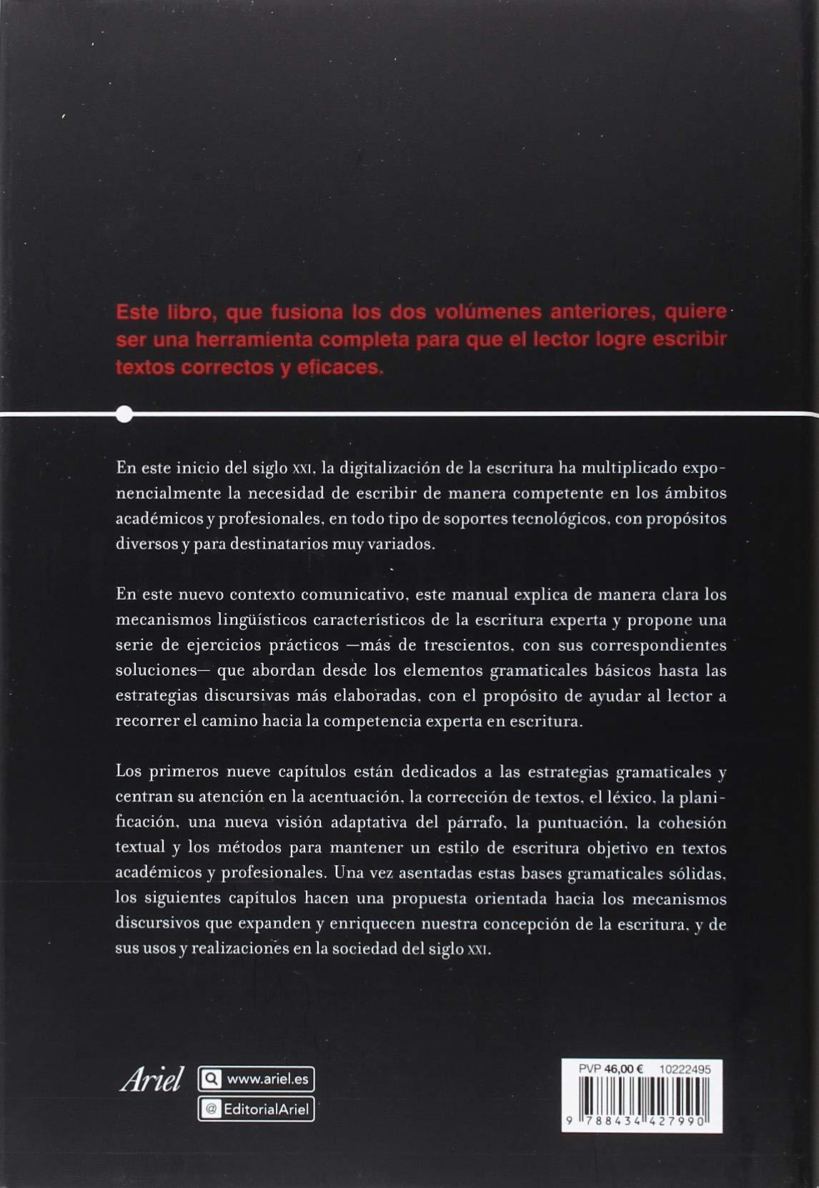Manual de escritura académica y profesional vol. I y II : Estrategias  gramaticales y discursivas Ariel Letras: Amazon.es: Estrella Montolío:  Libros