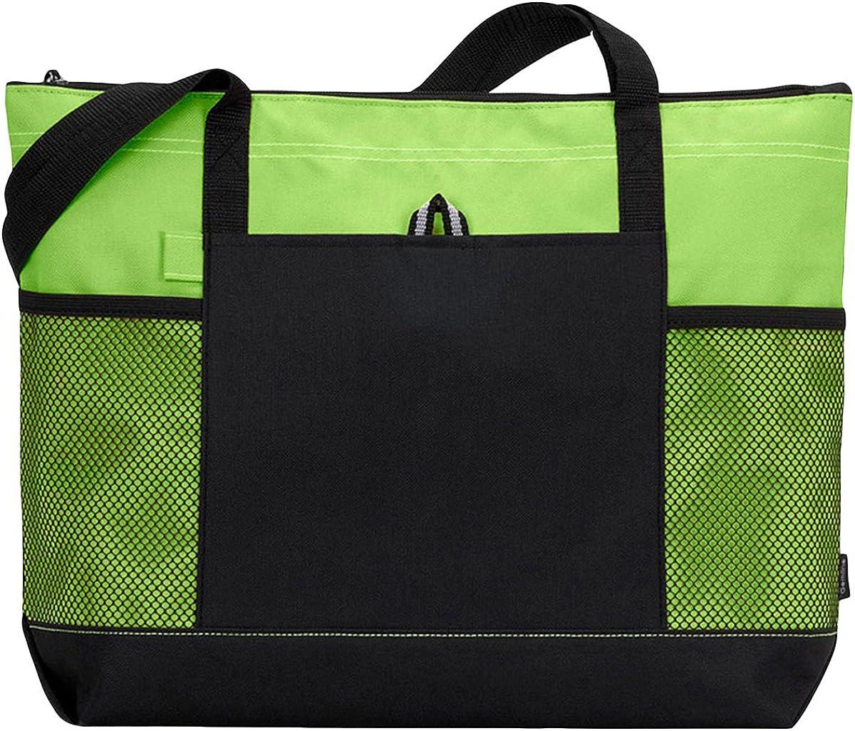 Gemline Select Zippered Tote Bag 1100 Apple Green