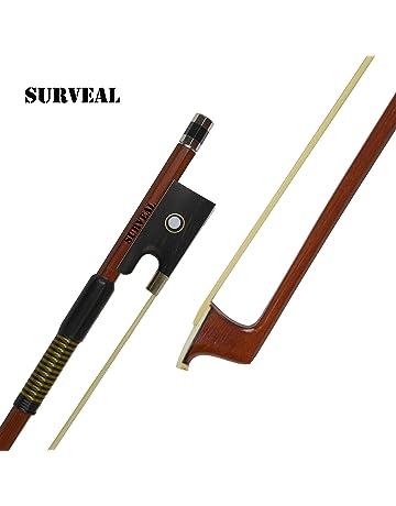 SURVEAL Arco de violín de madera de Brasil profesional con la mejor cola de caballo de