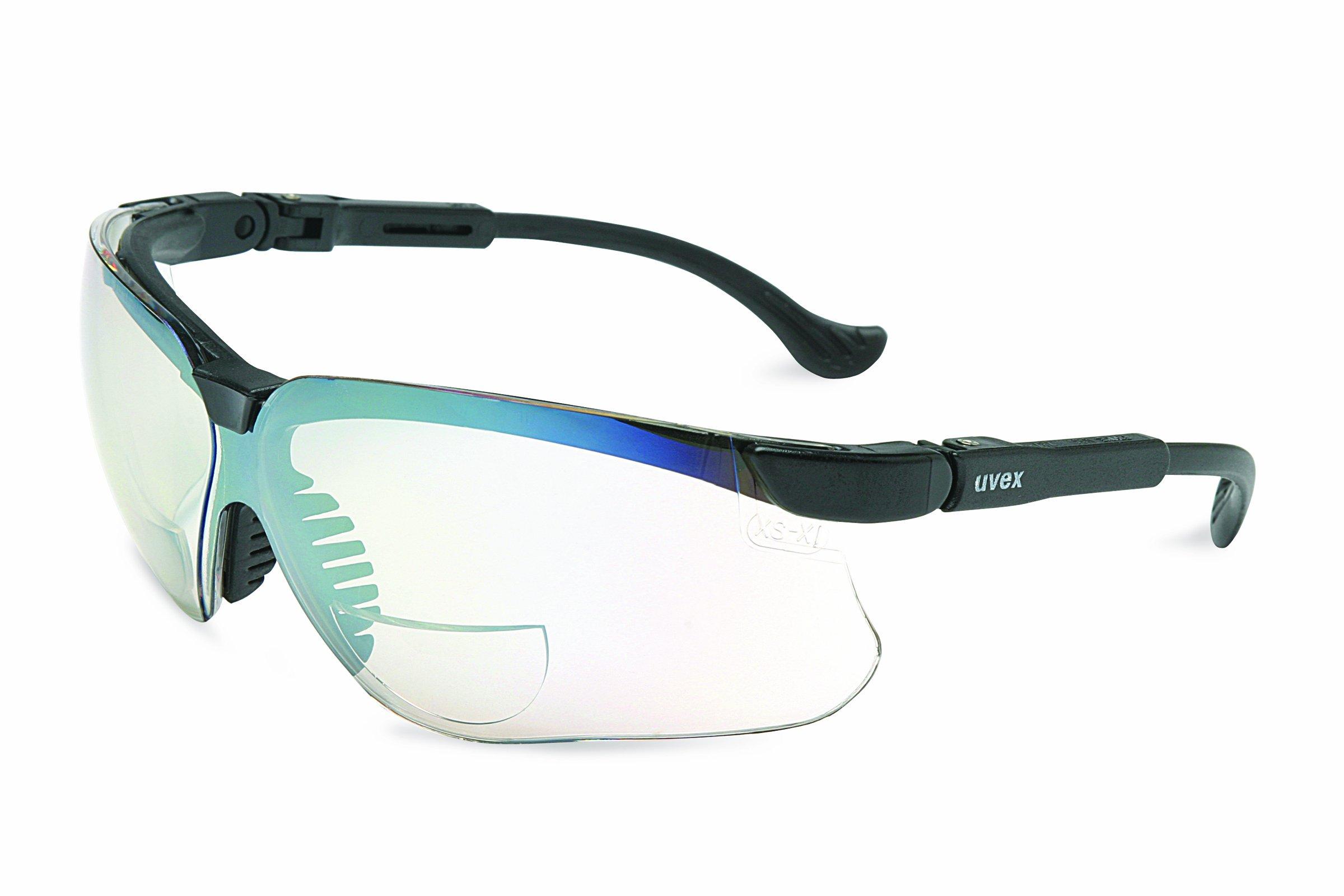 Uvex S3778 Genesis Reading Magnifiers Safety Eyewear +2-1/2, SCT-Reflect 50 Frame, Standard Gray Ultra-Dura Hardcoat Lens