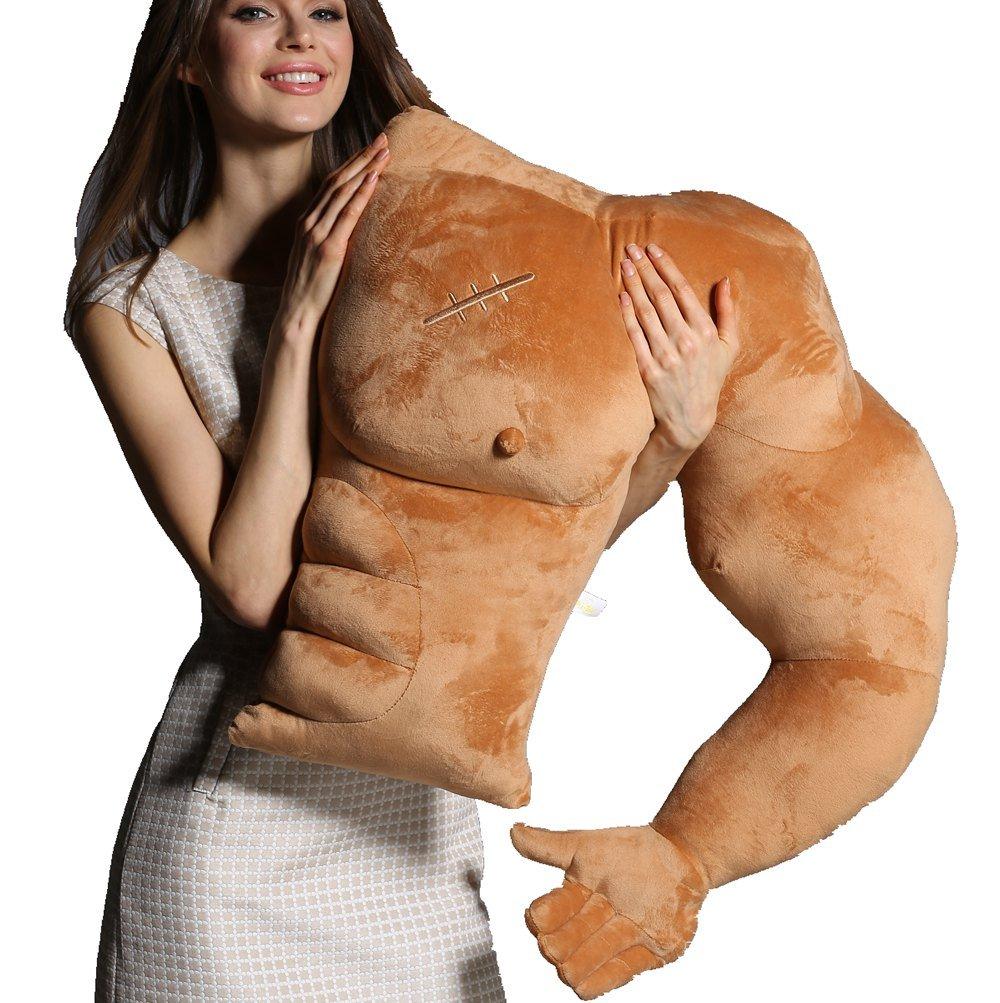 Vachichi Boyfriend Muscle Man Arm Pillow Body Pillows Gag Joke Toy by Vacihchi