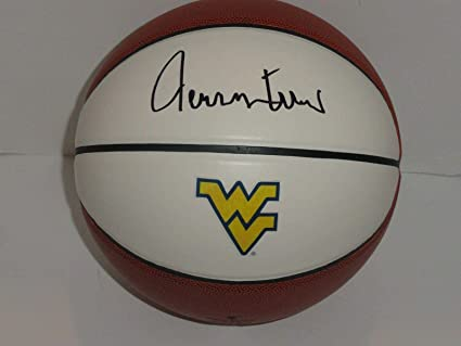 d1c757e36 Jerry West Signed Basketball West Virginia Mountaineers Hof The Logo ...