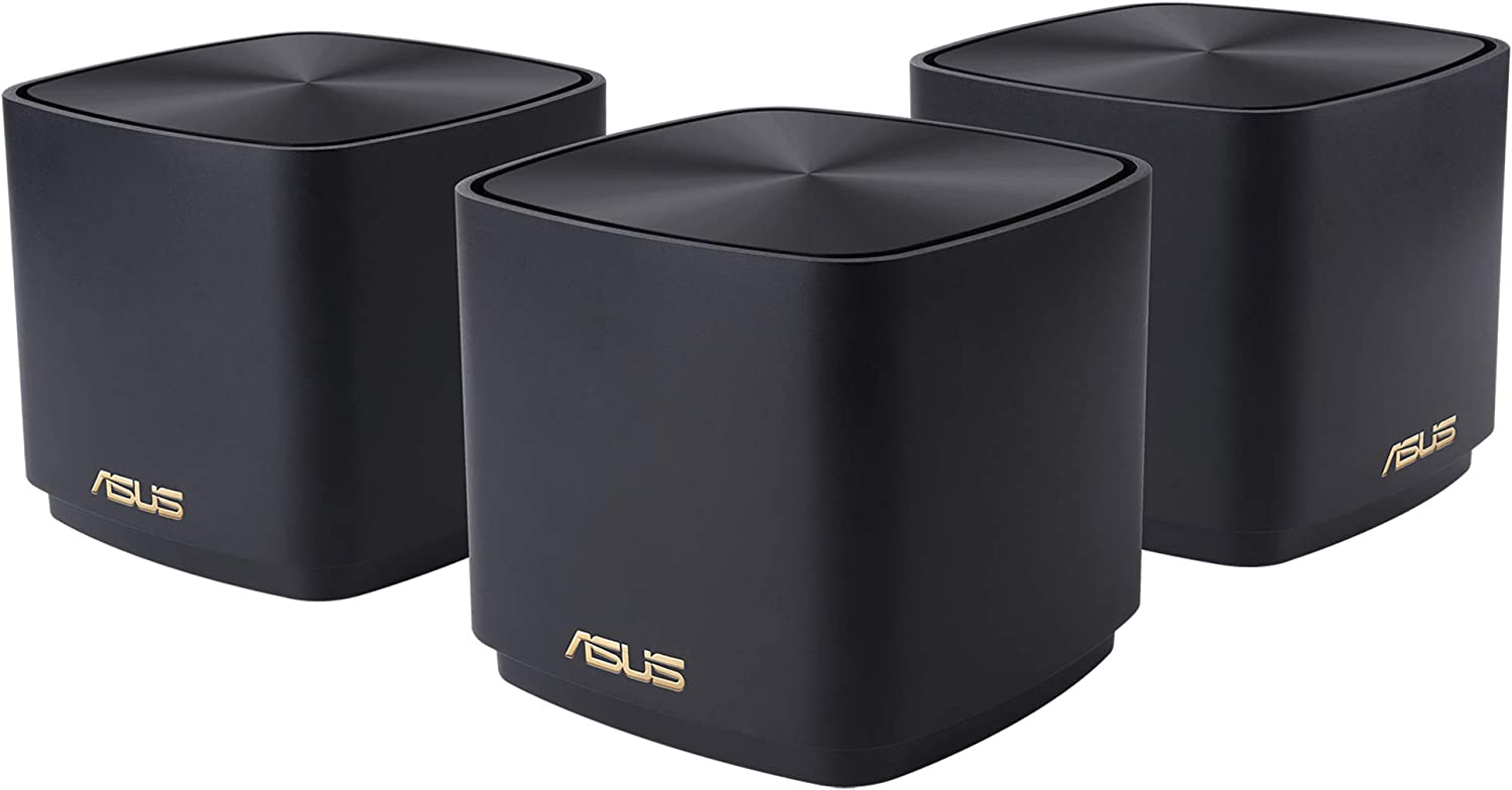 ASUS ZenWiFi AX Mini Whole Home Dual band Mesh WiFi 6 System (XD4)- 3 Pack Charcoal, coverage up to 4800 sq.ft & 25+ devices, 1800Mbps, AiMesh, Lifetime Free Internet Security, Parental Controls, Easy
