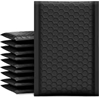UCGOU Bubble Mailers 4x8 Inch Black 50 Pack Poly Padded Envelopes Small Business Mailing Packages Opaque Self Seal…