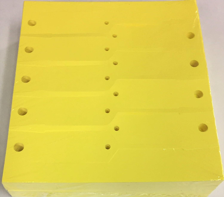 1000 Pack Self-Locking Arrow Key Tags Car Auto Dealership Service Plastic Yellow