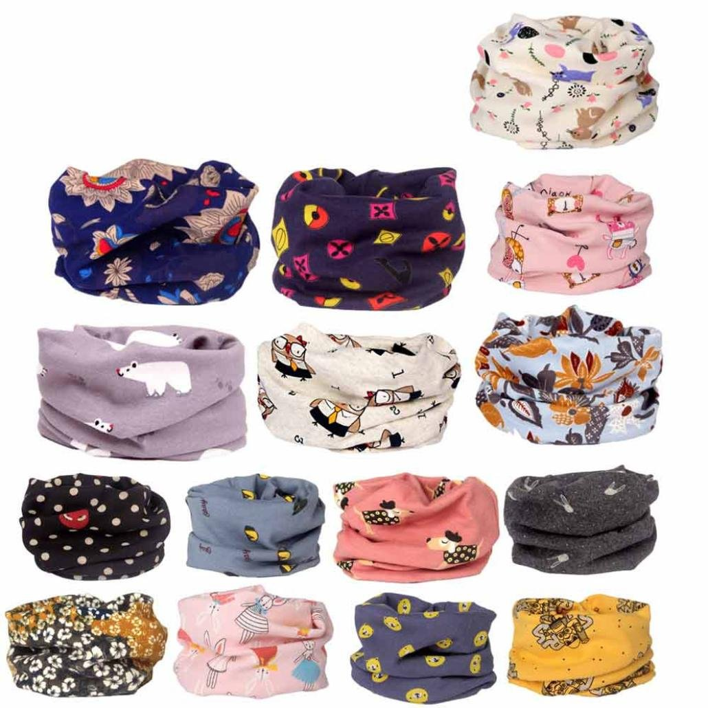 TRENDINAO Kids Baby Boys Girls Autumn Scarves Cotton Warm O Ring Neck Scarf