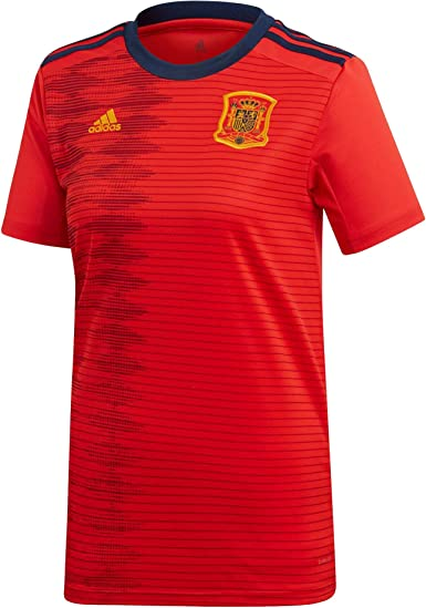 adidas Womens Soccer Spain Home Jersey (Large) Red: Amazon.es: Ropa y accesorios