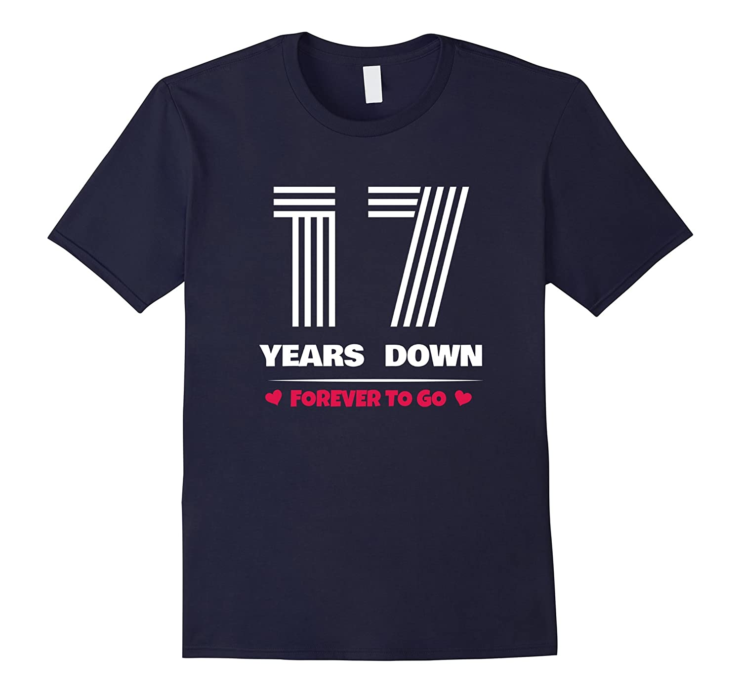 17th Wedding Anniversary T-Shirt Funny For Married In 2000 Y-FL