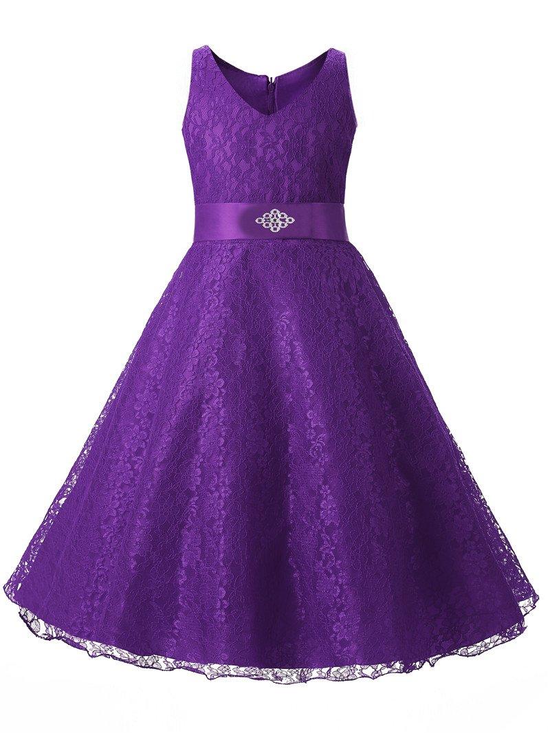 Blue Purple Birthday Dresses for Girls Kids Flower Girls Clothes ...