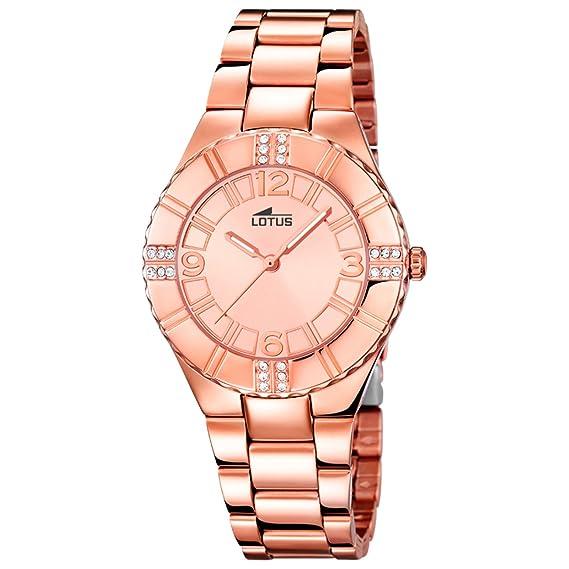 Lotus Reloj Analógico para Mujer de Cuarzo con Correa en Acero Inoxidable 15908/2: Lotus: Amazon.es: Relojes