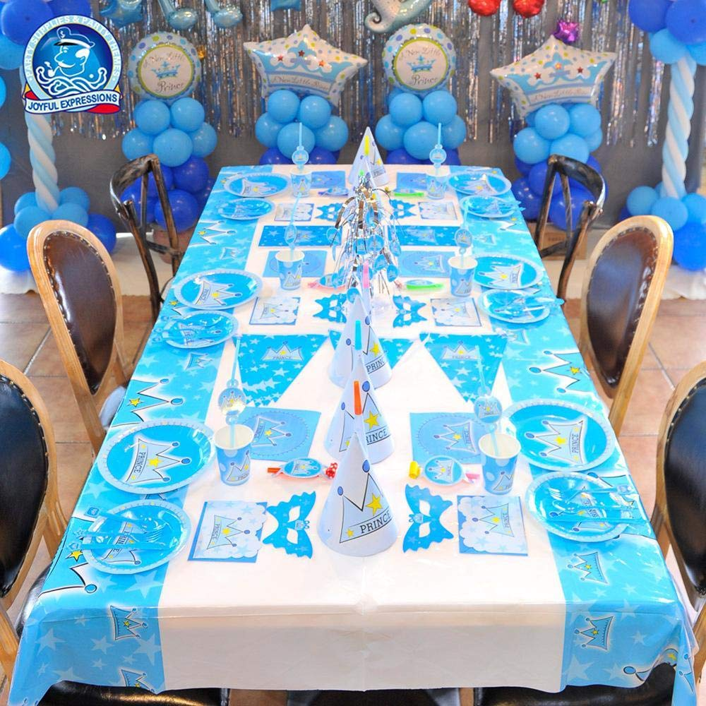 Mzl Thème de la fête Anniversaire Prince définie Lieu décorations pour Les fêtes d'Enfants Fournitures (15 pièces serties)