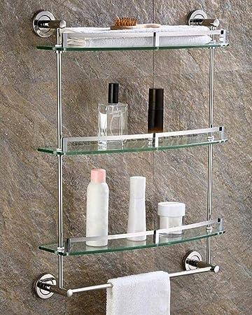 Amazon.com: CTO - Estante de baño con cristal templado súper ...