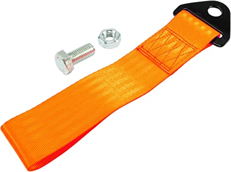 Tow Strap Abschleppschlaufe Fabe Orange Auto