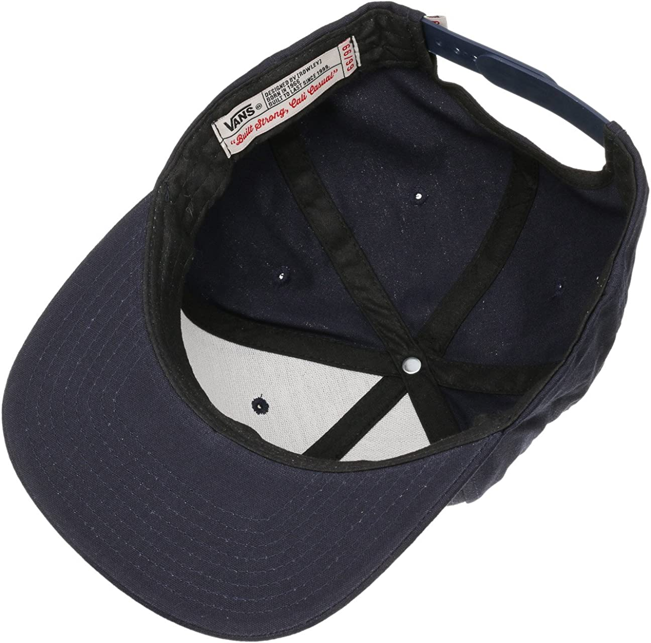 Vans Geoff Rowley 6 Panel Snapback Hat Navy Cap One Size Fits Most ...