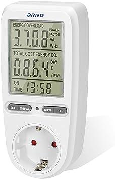 ORNO WAT-435(GS) Medidor de consumo electrico, Batería incorporada ...