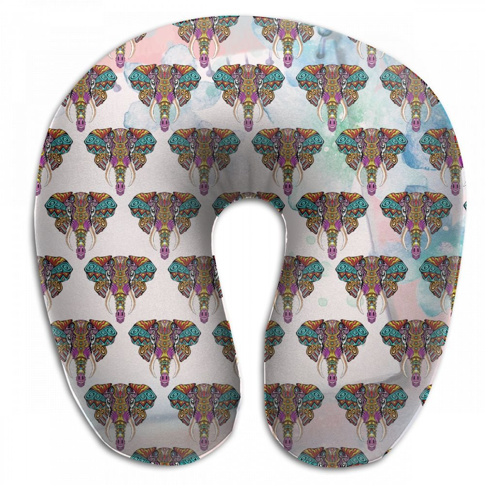 Wodehous Adonis Soft Cool Elephant India Africa Animal Memory Foam Neck Pillows Neck-Supportive Travel Pillow