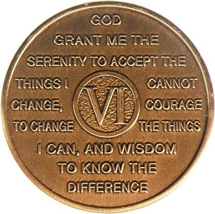 Anniversary Al-anon Medallion Birthday AA Coin Recovery NA