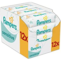 Pampers Sensitive 12 x 56 pcs - toallitas húmedas para bebé (Caja, 5,