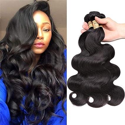 el mejor Excelente calidad comprar Extensiones de cabello humano virgen malasio ondulado, 3 ...