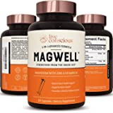 Magnesium Zinc & Vitamin D3 - Most Bioavailable Forms of Magnesium - Malate, Glycinate, Citrate - MagWell by LiveWell   Bone