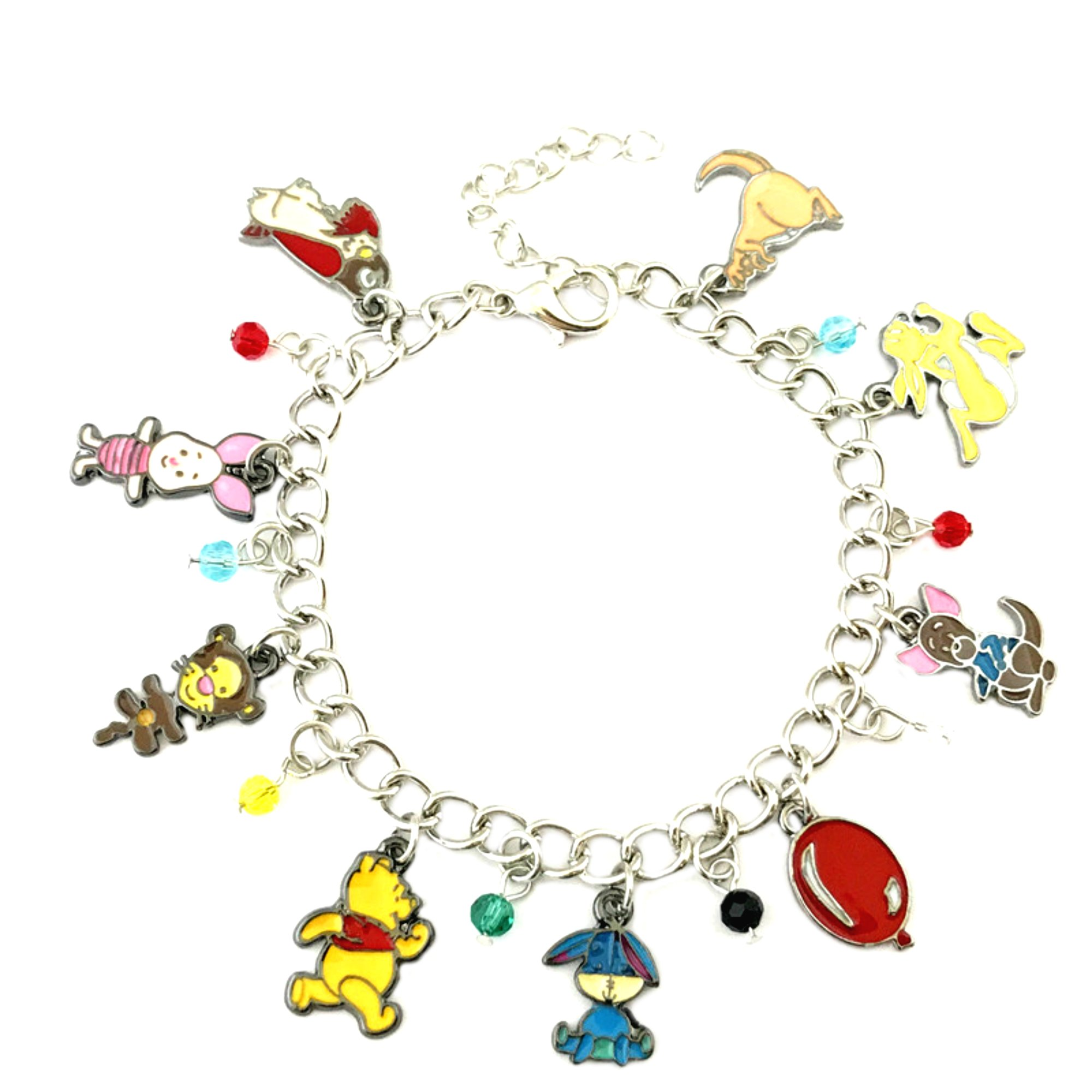Superheroes Brand Winnie the Pooh Disney Classic Cartoon Charm Bracelet w/Gift Box Movies Premium Quality Cosplay Jewelry Series by Superheroes Brand