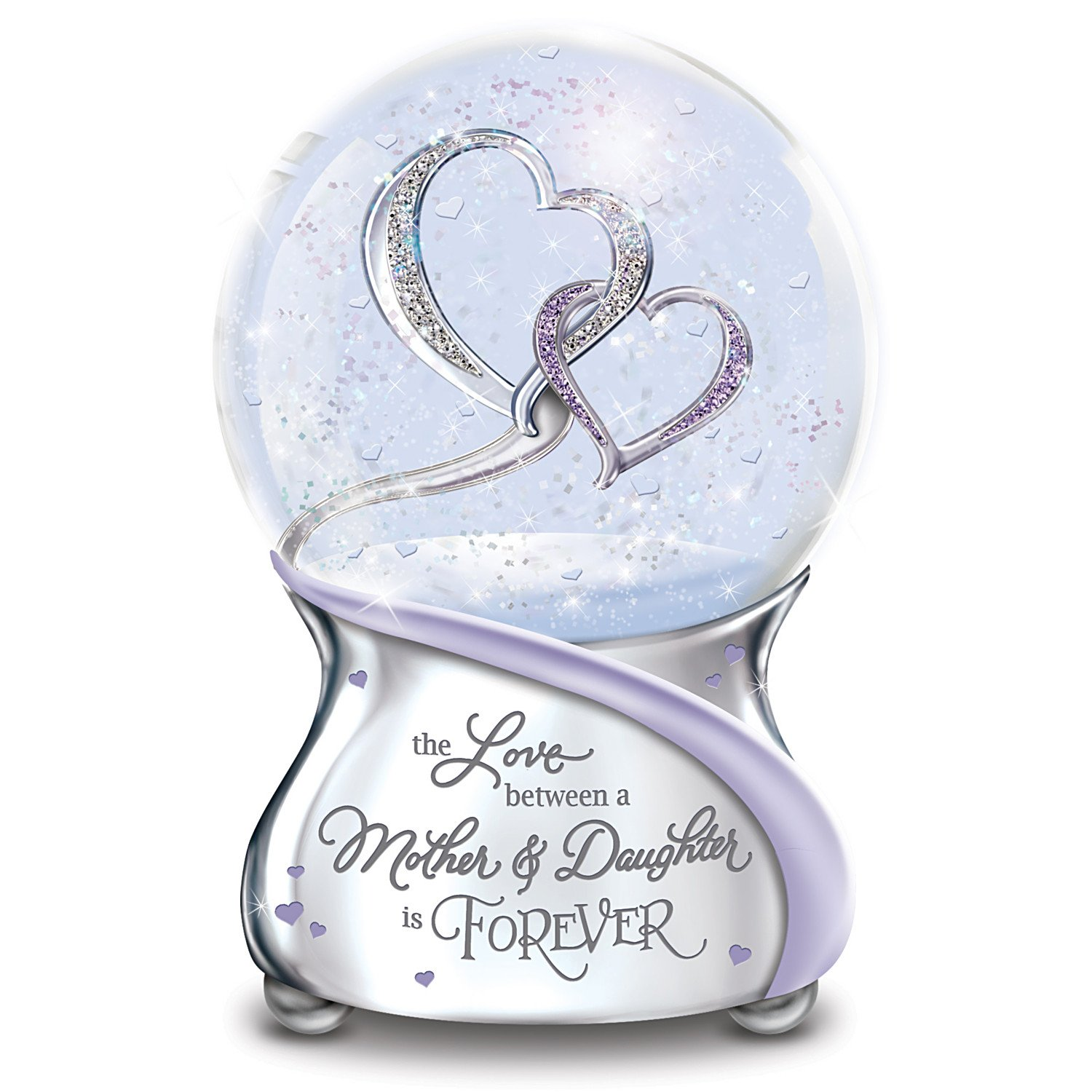 The Bradford Exchange The Love Between Mother and Daughter is Forever Musical Glitter Globe from Mom