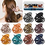 Hair Claw Clips,Fascigirl 10PCS Jaw Clips Vintage Non Slip Simple Irregular Hair Clamps Fashion Claw Clips Hair Accessories F