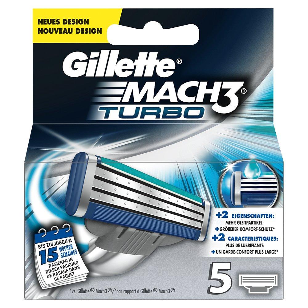 Gillette Mach3 Turbo 5x - hojillas de afeitar (Men, Gillette, MACH3 Turbo Gillette BODYTM MACH3, 5 pieza(s)) 303434