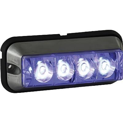 Buyers Products 4.875 Inch Blue Rectangular LED Strobe Light (8891009): Automotive