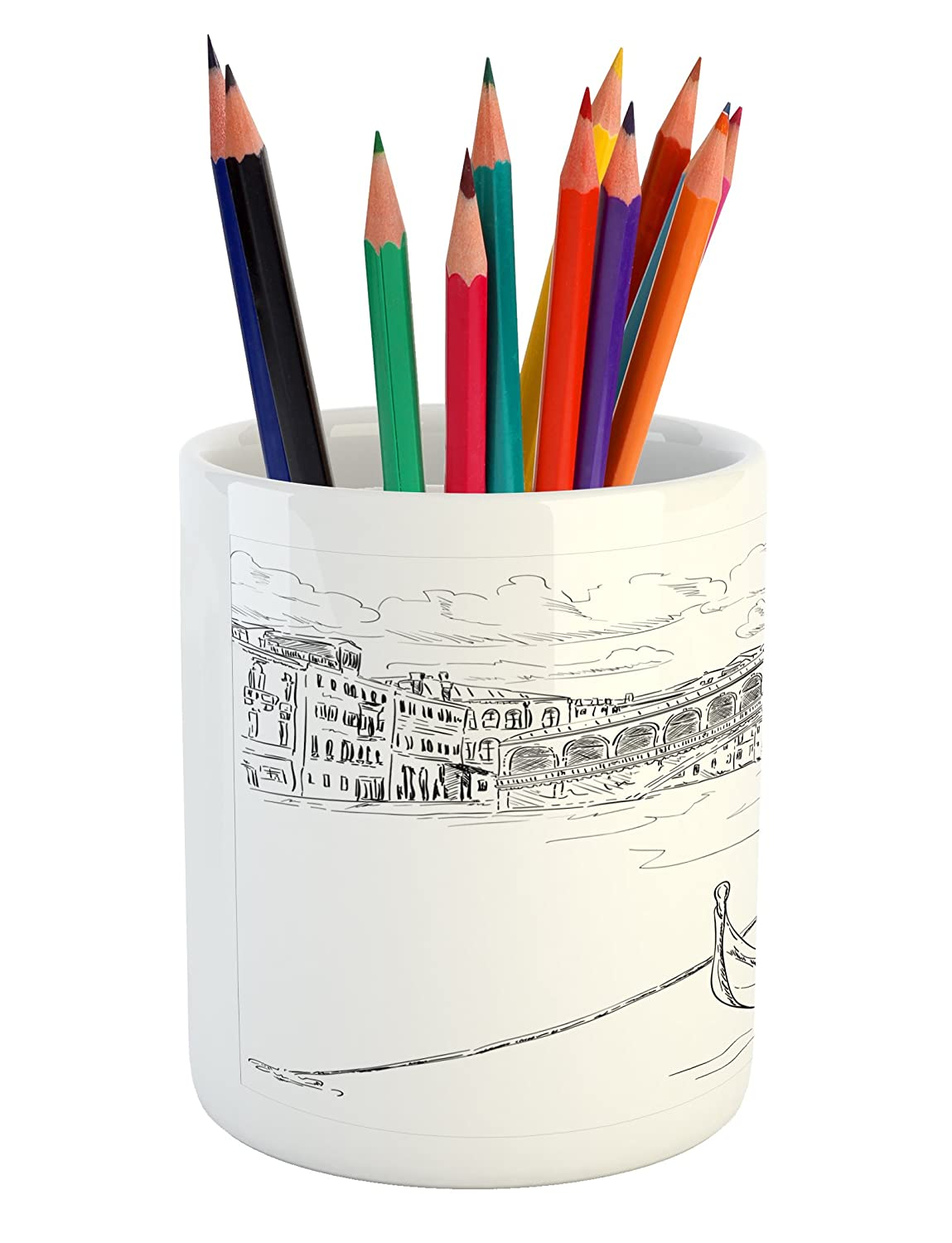 Amazon com ambesonne venice pencil pen holder rialto