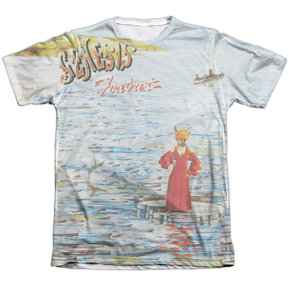 Genesis - Foxtrot - White Back Poly-Cotton - Adult T-Shirt - 2XL