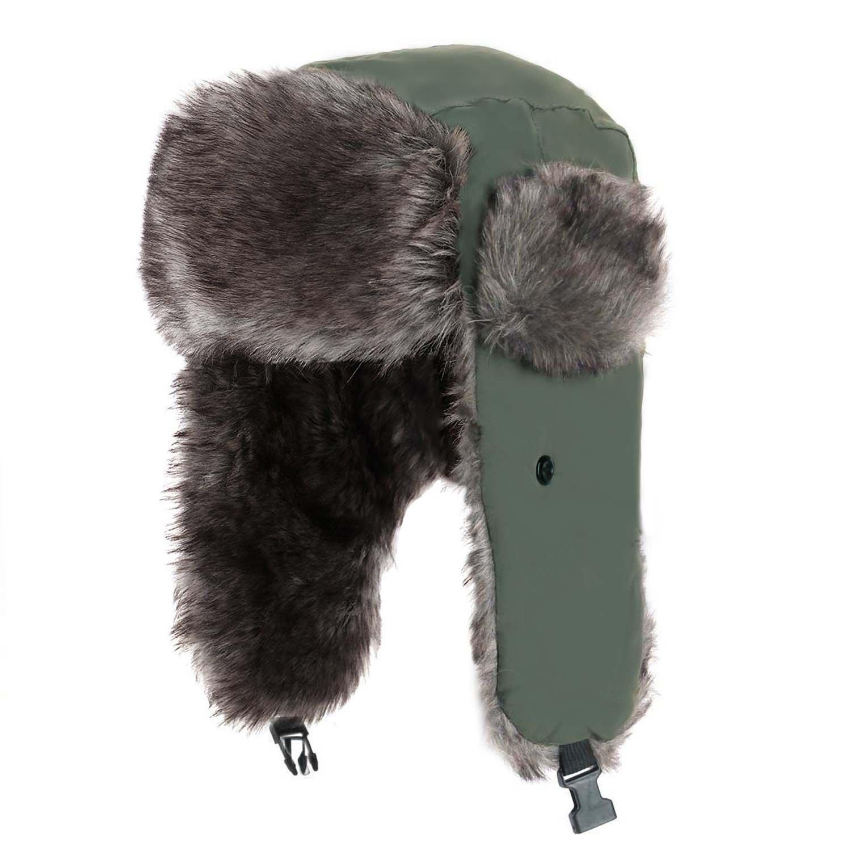 Yesurprise Trapper Warm Russian Trooper Fur Earflap Winter Skiing Hat Cap Women Men Windproof by Yesurprise (Image #1)