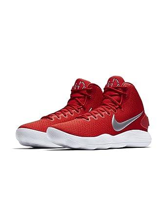 Nike Men's Hyperdunk 2017 TB Basketball Shoe University Red/Metallic Silver/ White Size 8.5