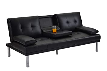 Amazon.com: MOOSENG Convertible Sofa Bed with Armrest ...