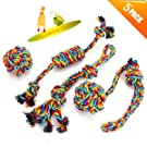 VIEWLON Dog Toys, Dog Rope Toys Set Durable Cotton Rope Chew Toys for Pet Dog Puppy Cat Dental Health Teeth Cleaning-4 Pack Gift Set Best for Small Medium Dogs