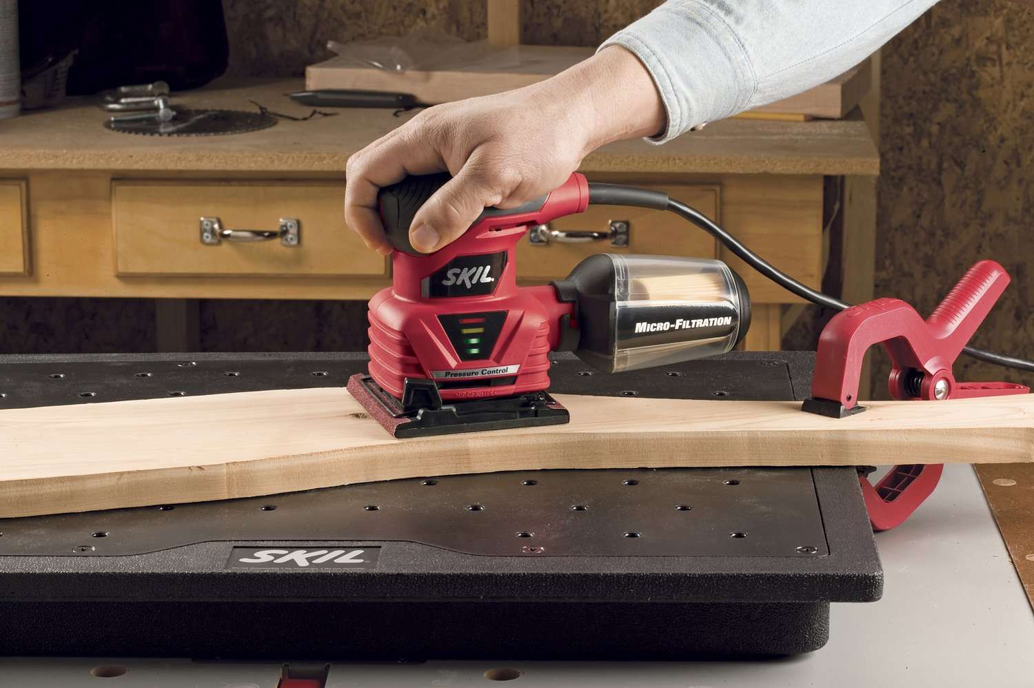 SKIL 7292-02 2.0 Amp 1/4 Sheet Palm Sander with Pressure Control by Skil (Image #3)