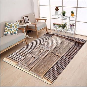 kisscase Custom alfombra decoración industrial antiguo de madera madera roble puerta de granero granja campo casa
