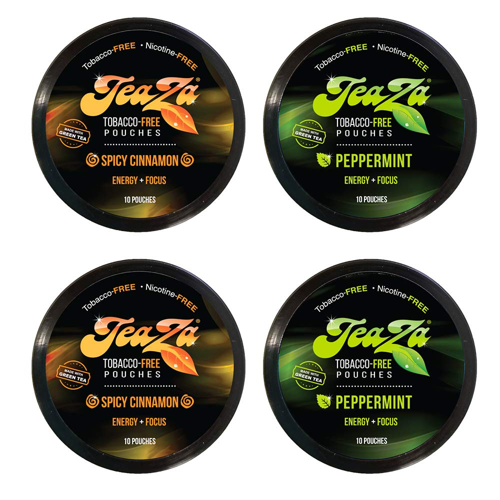 Teaza Herbal Energy Pouch Mixed 4 Pucks 2 Cinnamon- 2 Peppermint by TeaZa