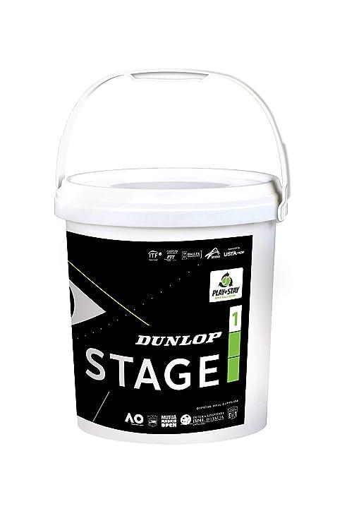DUNLOP Stage 1 Green 60BKT - Pelota de Tenis para Adulto, Unisex, Verde, Talla única