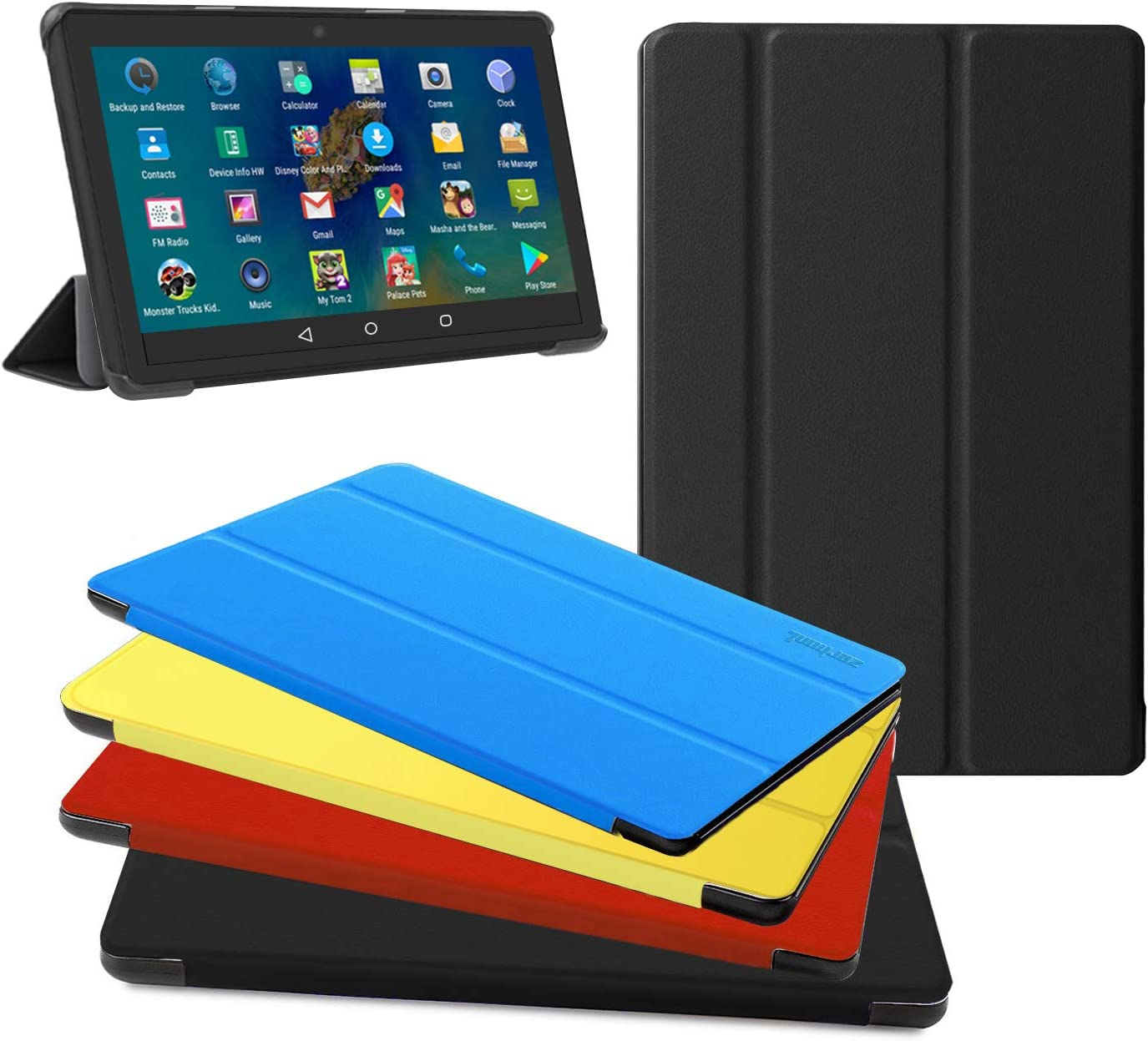 """All New Fire HD 8 Tablet Case, Fire HD 8 Plus Tablet Case (8"""" 10 Generation, 2020 Release) - Ultra Light Slim Fit Protective Cover with Auto Wake/Sleep Black, Not Suit for Previous Generation"""
