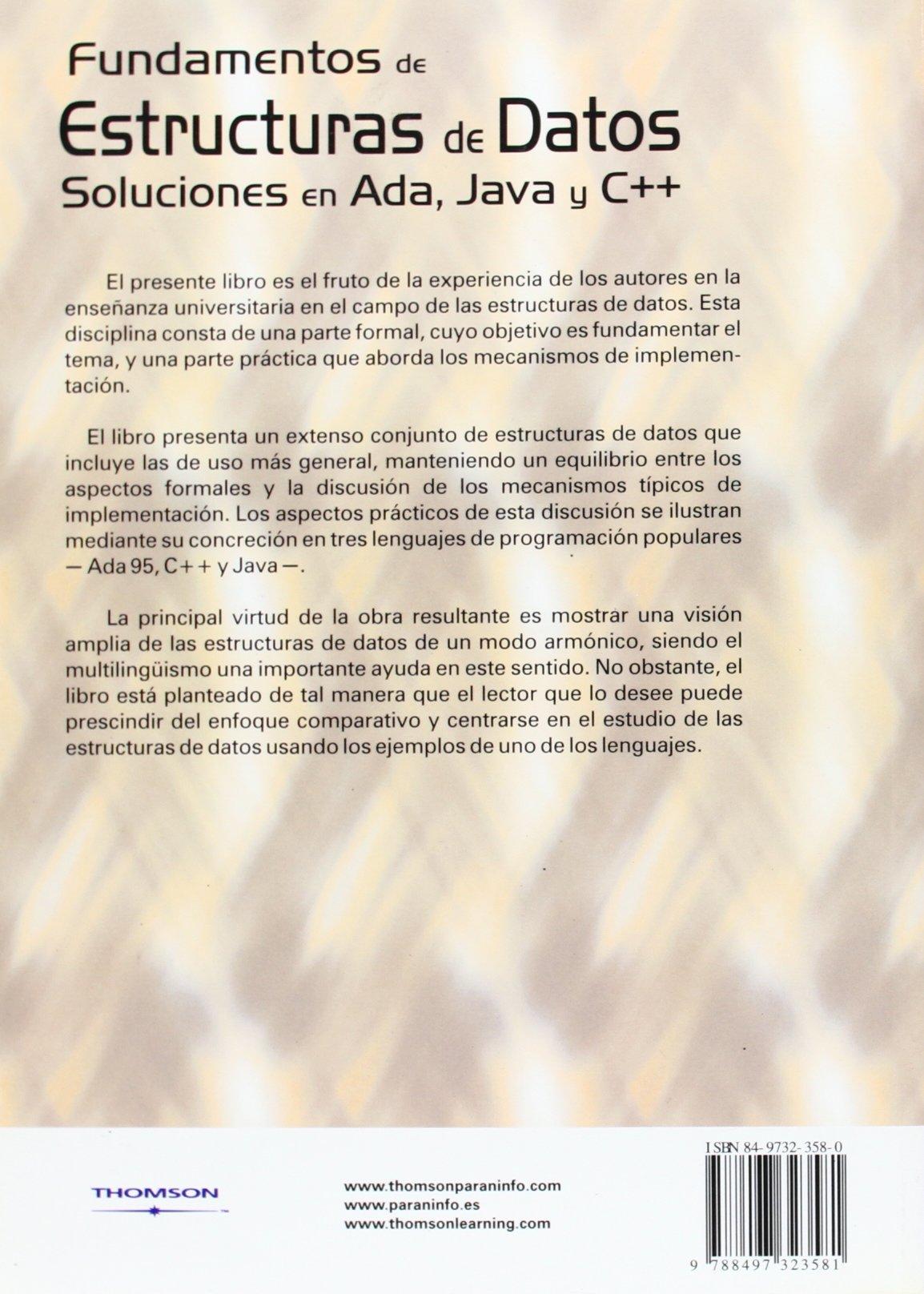 Fundamentos De Estructuras De Datos Soluciones En Ada