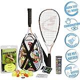 Speedminton S900 Set - Original Speed Badminton/crossminton Professional Set with 2 Carbon Rackets incl. 5 Speeder…
